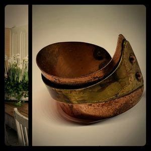 Vintage Actual Cuff Copper Brass Design Cuff